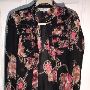 Trina Turk sheer blouse